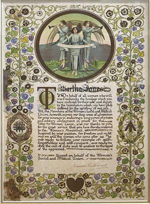 Emily Pankhurst illumination