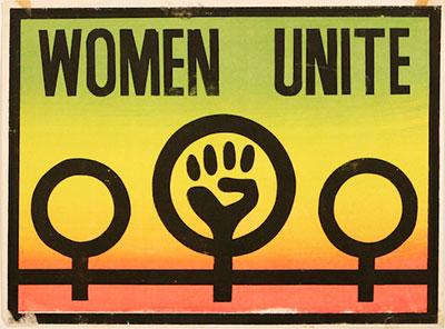 Women Unite — postcard